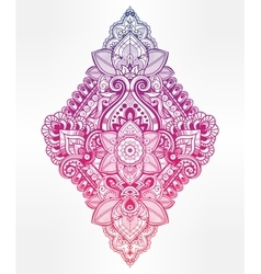 Beautiful bohemian floral paisley ornament vector image vector image