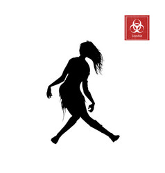 black silhouette of women zombie vector image