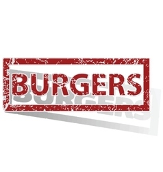 Burgers outlined stamp vector