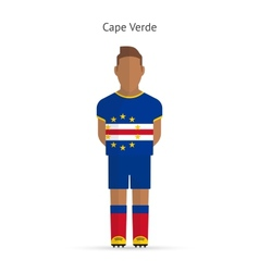 Cape verde football player soccer uniform vector