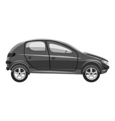 Car side view icon gray monochrome style vector image vector image