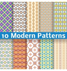 Different modern seamless patterns tiling vector image