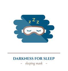 Flat sleep icon vector