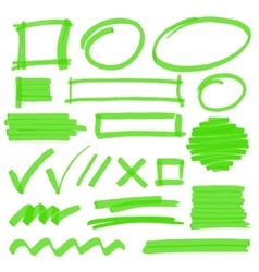 Highlighter Marking Design Elements vector image