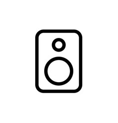 line speaker icon on white background vector image vector image