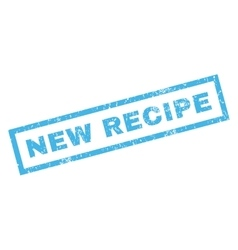 New recipe rubber stamp vector