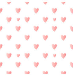 Nice pattern with pink hearts vector