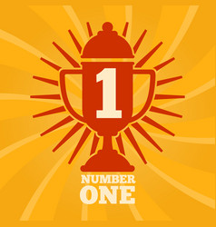 number one label concept vector image vector image