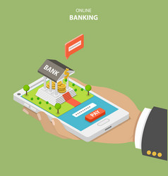 online banking flat isometric concept vector image vector image