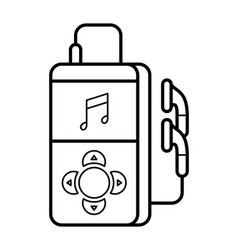 Player line art simple gadget icon vector