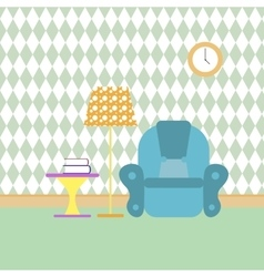 Reading room and recreation flat color vector