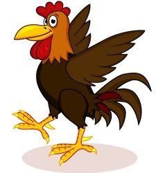 rooster cartoon vector image