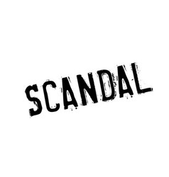 Scandal rubber stamp vector