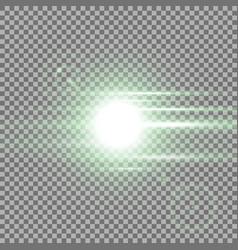 Sunrise light effect green color vector