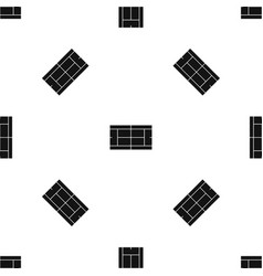 tennis court pattern seamless black vector image