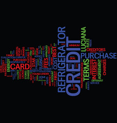 the cost of credit text background word cloud vector image vector image