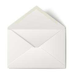 White opened envelope isolated on white background vector image vector image