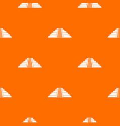 ziggurat in chichen itza pattern seamless vector image