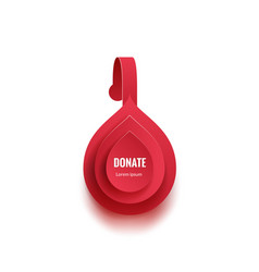 advertising wobbler template blood drop design for vector image