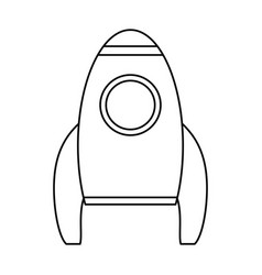 Rocket launch spaceship technology outline vector