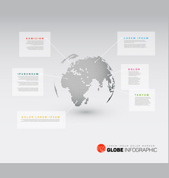modern world map globe infographic vector image