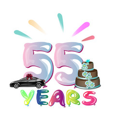 Happy birthday fifty five 55 year vector