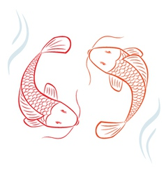 Asian fish vector