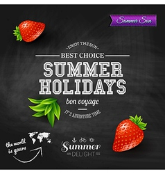 Summer design poster for summer holidays vector