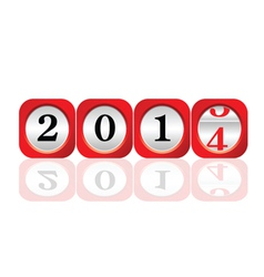 Dial 2014 color art vector
