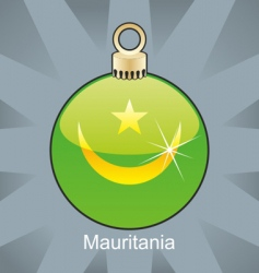Mauritania flag on bulb vector image