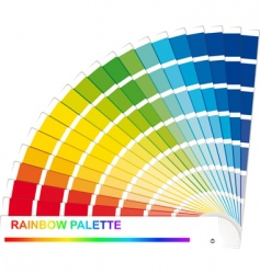 Rainbow palette vector