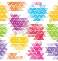 Abstract seamless background of hexagons vector