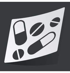 Monochrome medicine sticker vector