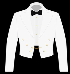 White suit with black bow tie vector