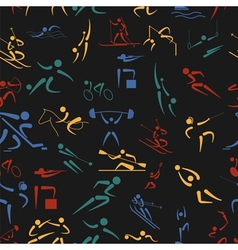 Sport seamless pattern flat style vector