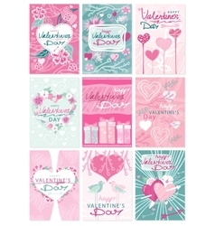 Happy valentines day party flyer posters vector