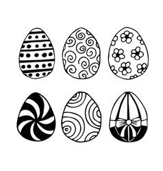 Hand-drawn Easter eggs vector image