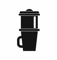 Mug for coffee icon simple style vector