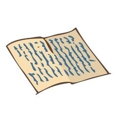 Vintage handwritten letter vector
