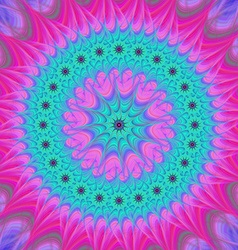 Abstract mandala fractal design background vector