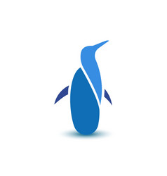 Abstract penguin business logo sign animal icon vector image