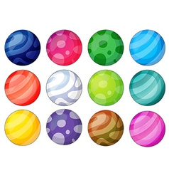 Ball diversity vector image