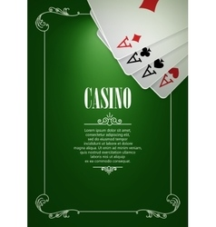 Banner with Casino Logo Badges vector image vector image
