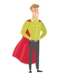 Businessman wearing a red superhero cloak vector