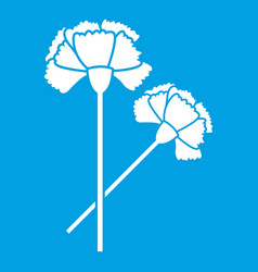 Carnation icon white vector