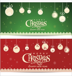 Christmas retro background vector image vector image