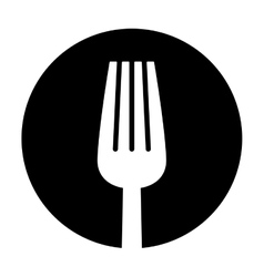 contour fork icon image design vector image vector image