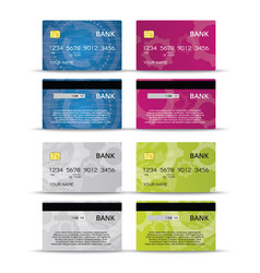 Credit or debet cards design set vector