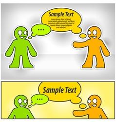 dialog two man vector image