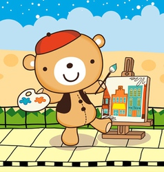 drawing bear vector image